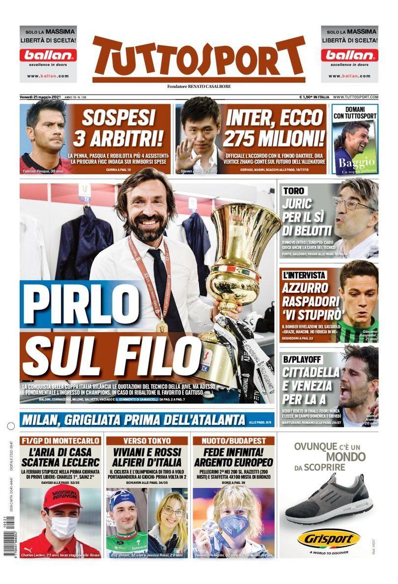 روزنامه توتو  پیرلو روی بند