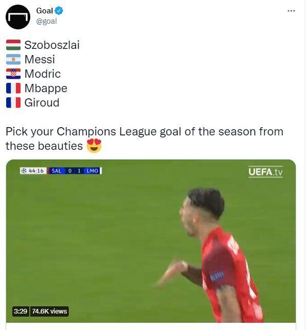 نظرسنجی سئوال برانگیز لیگ قهرمانان اروپا/ گل طارمی به چلسی کجاست؟