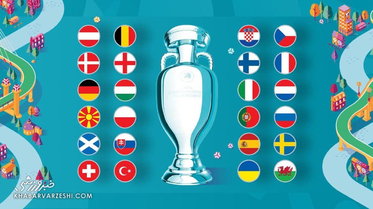 برنامه کامل مسابقات یورو ۲۰۲۰ به وقت ایران/ تاریخ برگزاری نیمهنهایی و فینال جام ملتها