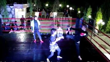 ویدیو  مبارزه شبانه دختران در رینگ MMA در باغی در اطراف شهریار