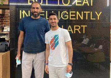 عکس  ستاره ۲ متری ورزش ایران داماد شد