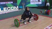 ویدیو  تاریخسازی دختر وزنهبردار ایران در قهرمانی جهان/ یکتا جمالی برنز گرفت