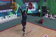 تاریخ سازی در وزنه برداری؛ نقره جهان به دختر ایرانی رسید