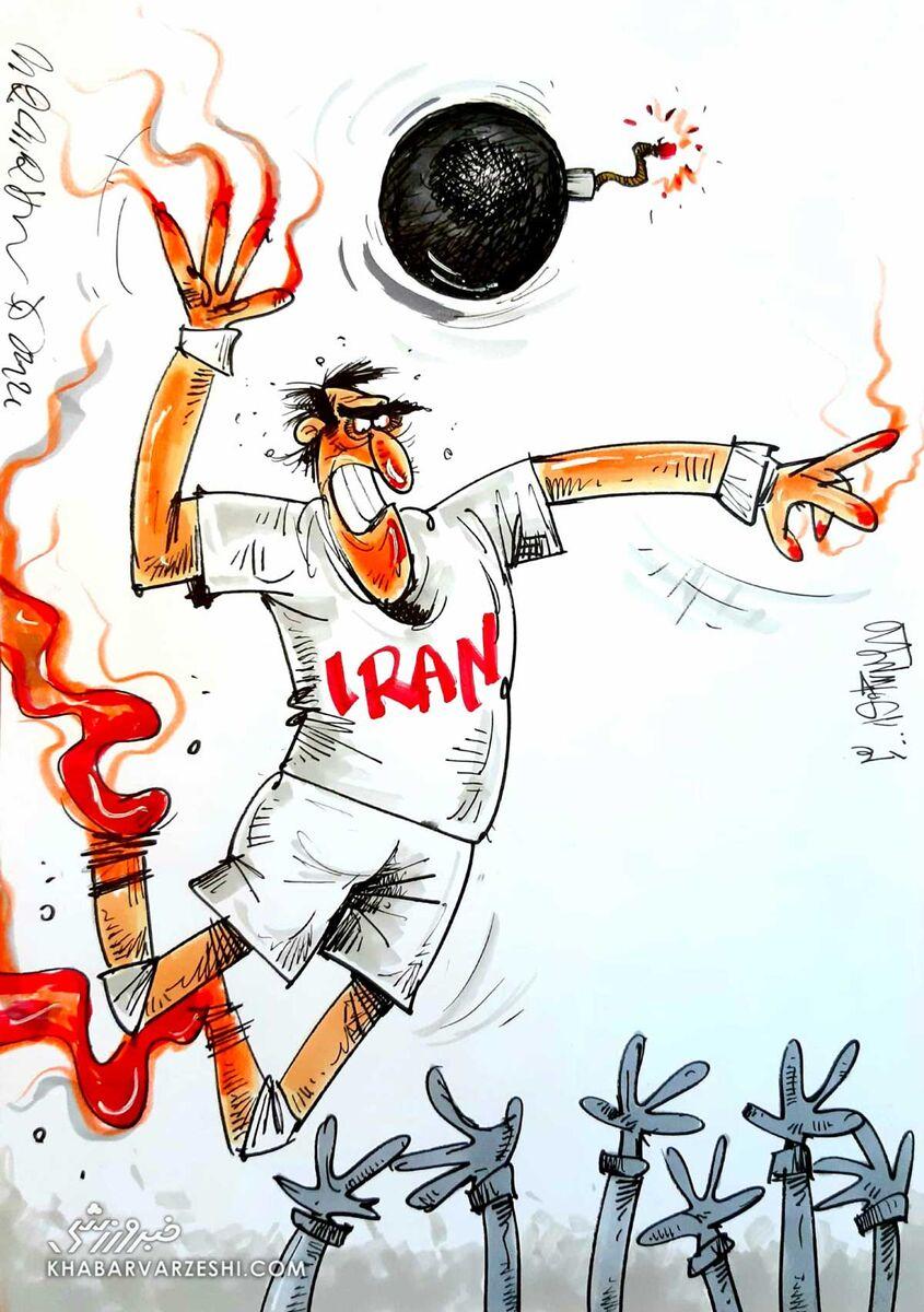 کارتون محمدرضا میرشاهولد درباره تیم ملی والیبال