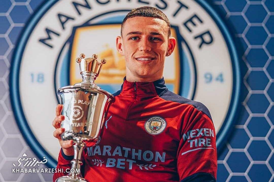 کوین دبروینه (بهترین بازیکن جوان فصل 2021-2020 لیگ برتر انگلیس به انتخاب اتحادیه فوتبالیستهای حرفهای)