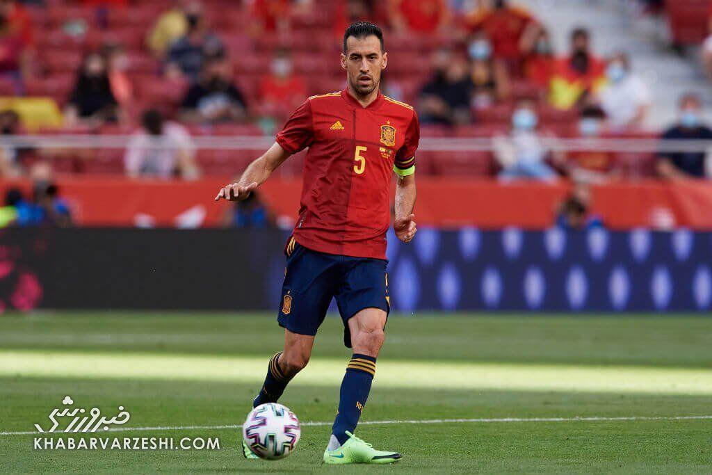 کاپیتان اسپانیا کرونایی شد!/ بوسکتس مرحله گروهی یورو را از دست داد؟