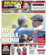 روزنامه موندو  پپ، کومان را تأیید میکند