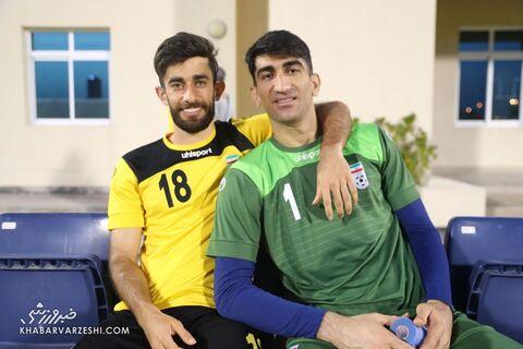 علیرضا بیرانوند و علی قلیزاده؛ تمرین تیم ملی ایران در بحرین (18 خرداد 1400)