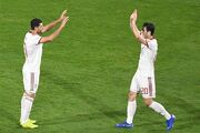عکس  ۲ ستاره ایران  سوژه پوستر AFC برای بازی با عراق