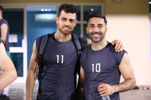 مرتضی پورعلیگنجی و سامان قدوس؛ تمرین تیم ملی ایران در بحرین (19 خرداد 1400)