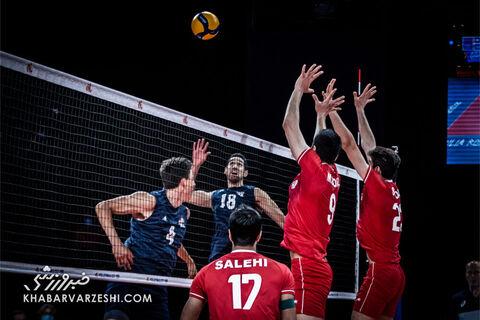 ایران - آمریکا؛ لیگ ملتهای والیبال