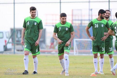 علیرضا جهانبخش و سعید عزتاللهی؛ تمرین تیم ملی ایران در بحرین (20 خرداد 1400)