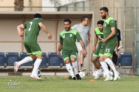 سامان قدوس و کاوه رضایی؛ تمرین تیم ملی ایران در بحرین (20 خرداد 1400)