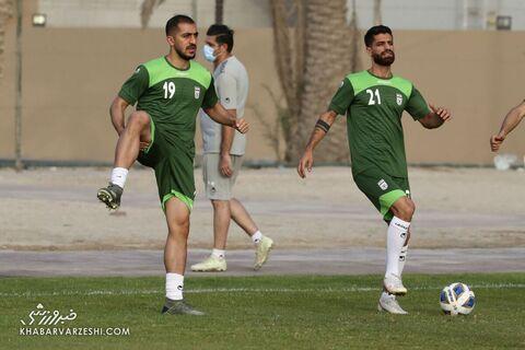مجید حسینی و میلاد سرلک؛ تمرین تیم ملی ایران در بحرین (20 خرداد 1400)