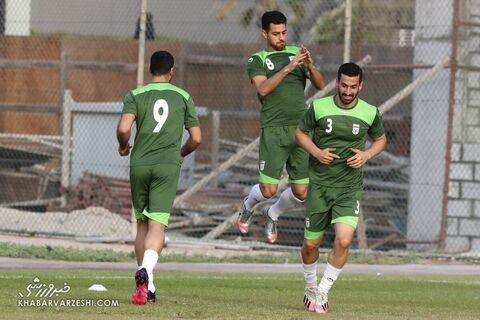 احسان حاجصفی و مرتضی پورعلیگنجی؛ تمرین تیم ملی ایران در بحرین (20 خرداد 1400)