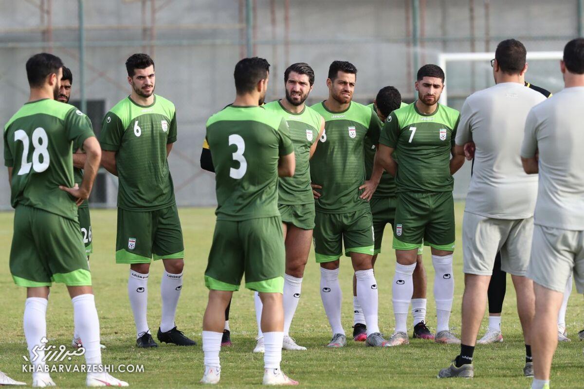 تمرین تاکتیکی ایران پیش از دیدار با کامبوج