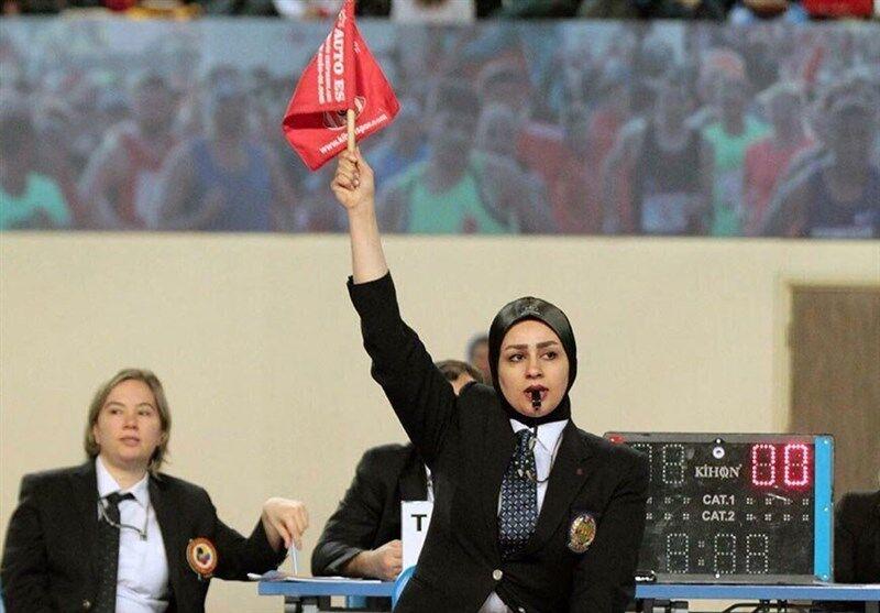 عکس | قضاوت حاشیه ساز داور زن ایرانی در مسابقه ورزشکار رژیم اشغالگر