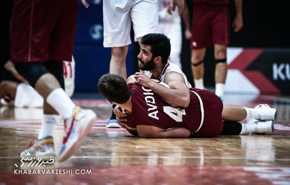 پیروزی قاطع بسکتبال ایران مقابل قطر با درخشش ارسلان