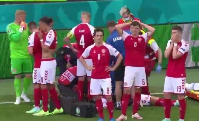 ویدیو| بازی دانمارک و فنلاند بدلیل احتمال مرگ اریکسن لغو شد