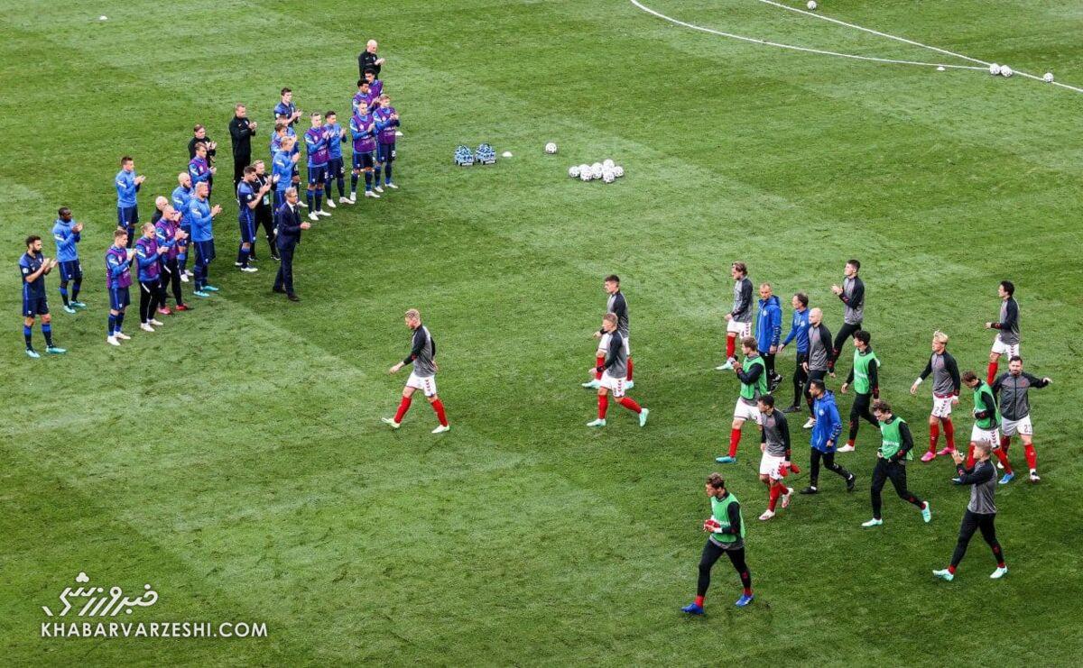 عکس  لحظهای ماندگار در تاریخ جام ملتها/ تشویق حریف بعد از لحظات پراسترس