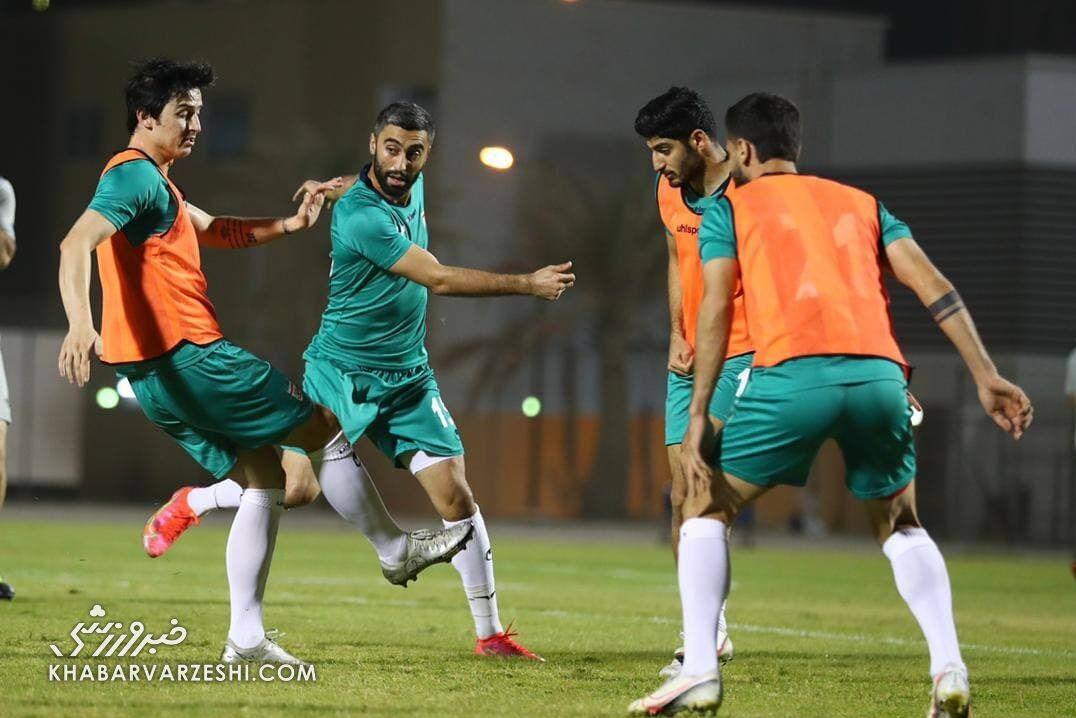 عکس| تمرین تیم ملی در هوای شرجی بحرین