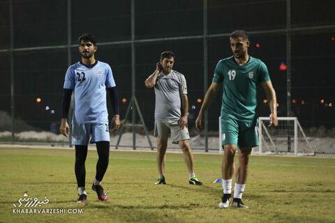 امیر عابدزاده، مجید حسینی و کریم باقری؛ تمرین تیم ملی ایران در بحرین (23 خرداد 1400)