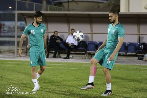 علی قلیزاده و مجید حسینی؛ تمرین تیم ملی ایران در بحرین (23 خرداد 1400)
