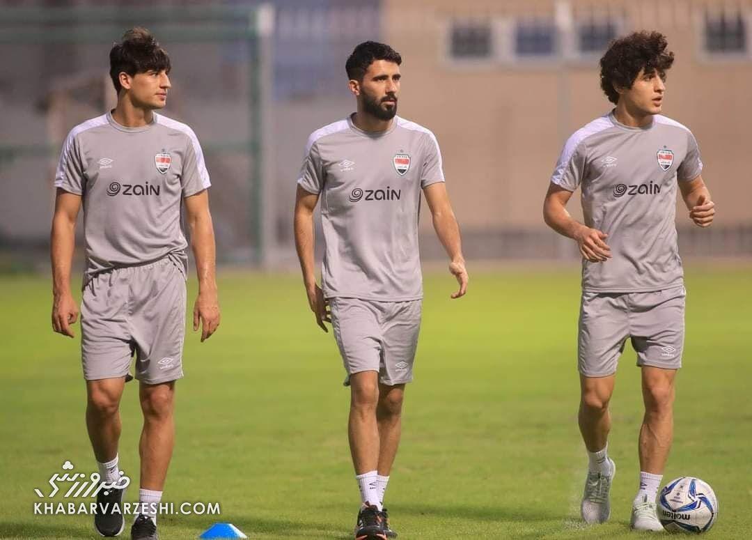 عکس| ستاره پرسپولیسی عراق آماده بازی با ایران