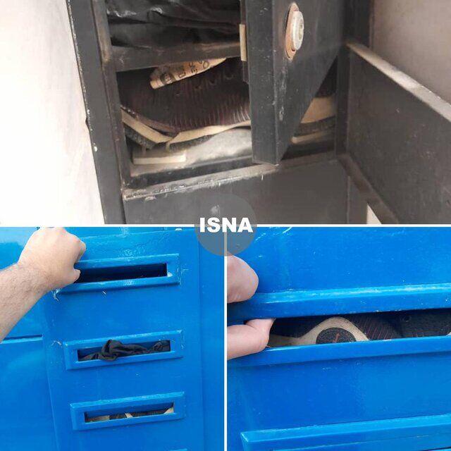 عکس  کفش و شلوار در صندوق پستی باشگاه استقلال