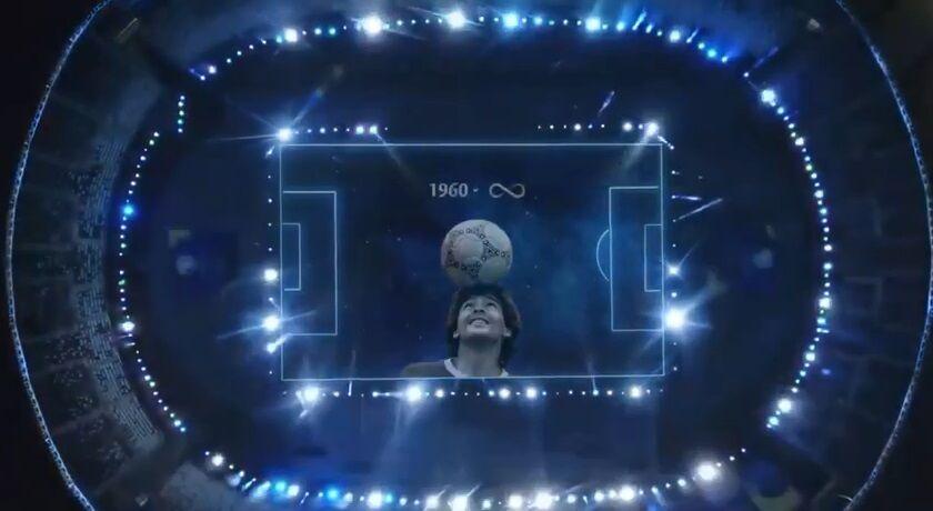 ویدیو  یادبود تاریخی برای دیگو مارادونا