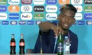 ویدیو  واکنش پل پوگبا به وجود بطری حاوی مشروبات الکلی روی میز کنفرانس