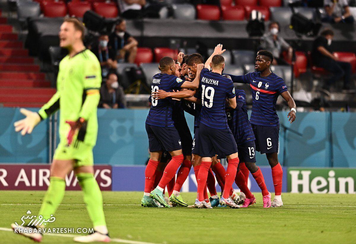 فرانسه یک - آلمان صفر/ خروسها با گلبهخودی بازی بزرگ را بردند