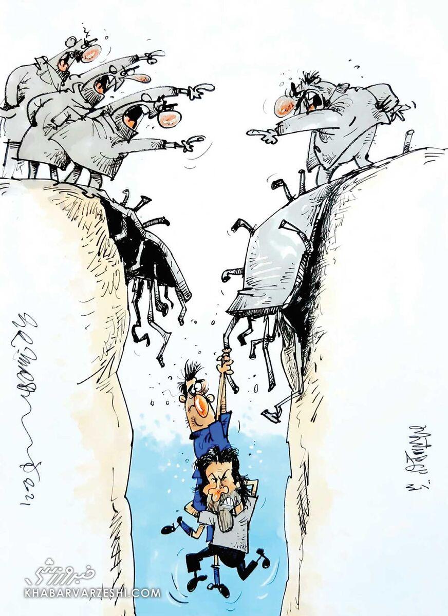 کارتون محمدرضا میرشاهولد درباره مجیدی