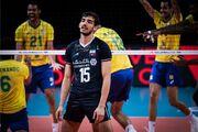 برزیل ۳ - ایران یک/ زور والیبال ایران به برزیل نرسید؛ ششمین باخت برای ایران
