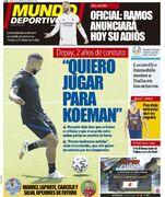 روزنامه موندو  من میخواهم برای کومان بازی کنم