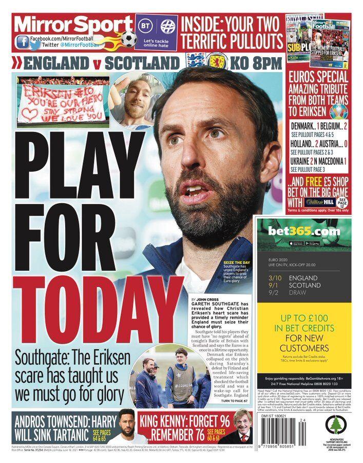 روزنامه میرر| برای امروز بازی کنید
