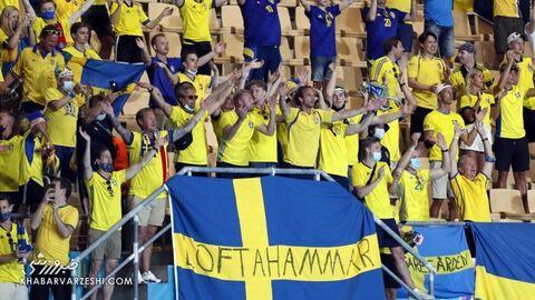 هواداران یورو 2020 (سوئد - اسلواکی)