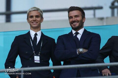 هواداران یورو 2020 (دیوید بکام و پسرش؛ انگلیس - اسکاتلند)