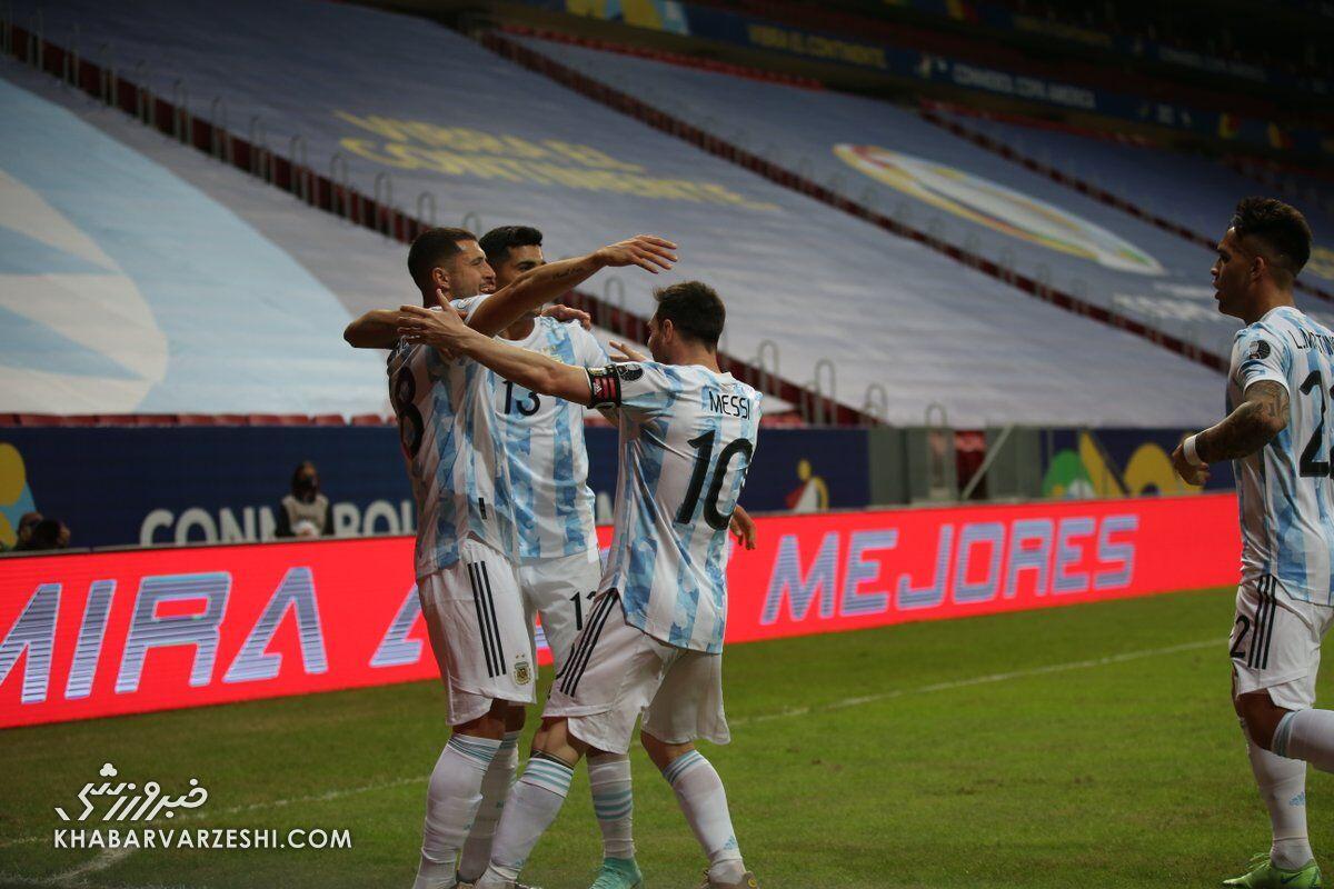 برد باارزش آرژانتین با درخشش مسی/ شیلی به نخستین برد رسید