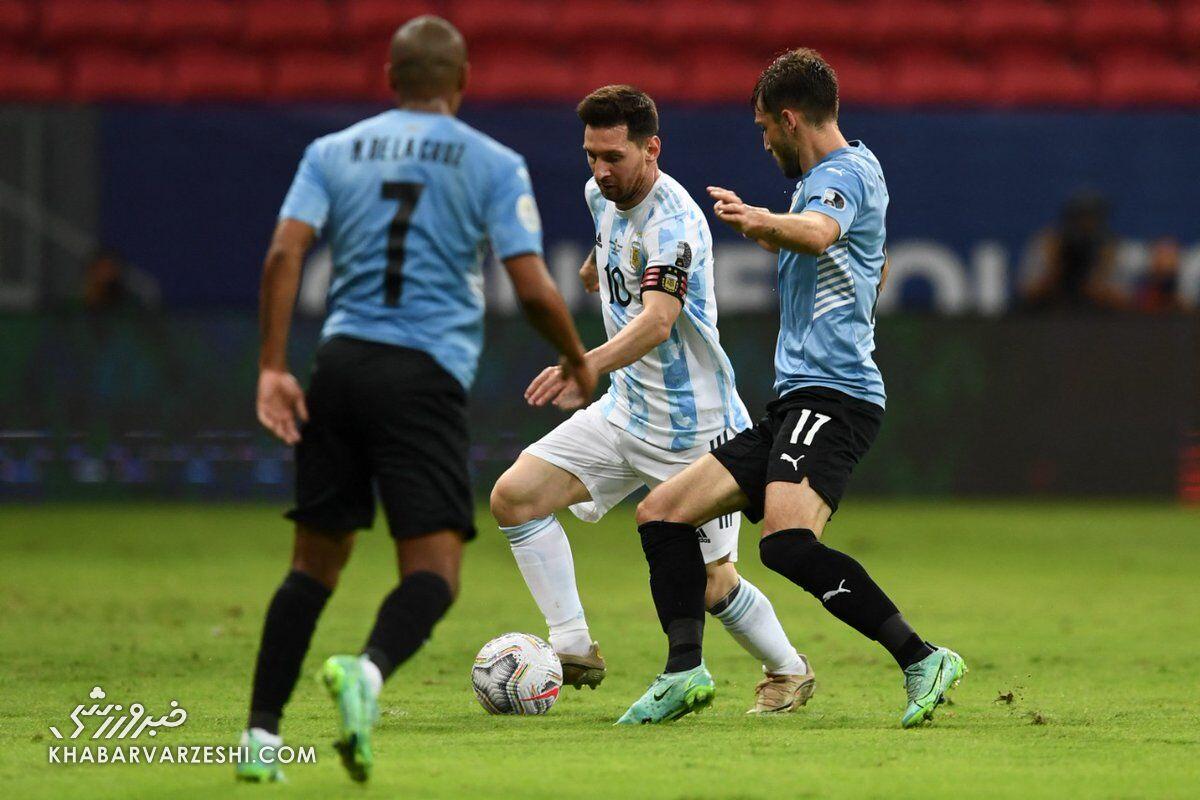لیونل مسی؛ آرژانتین - اروگوئه