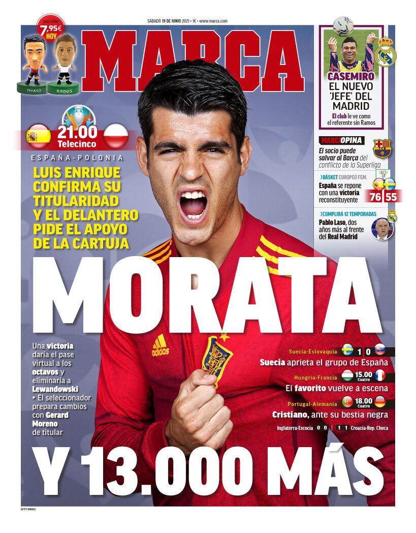 روزنامه مارکا  موراتا و ۱۳ هزار نفر دیگر