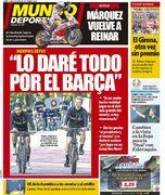 روزنامه موندو  همهچیزم را برای بارسلونا میدهم