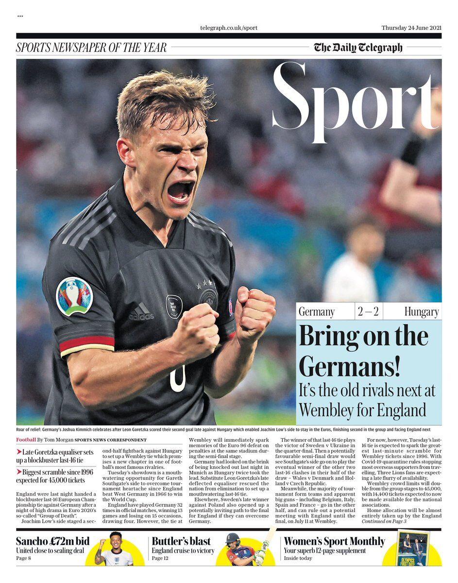 روزنامه تلگراف| آلمانها را بیاورید!