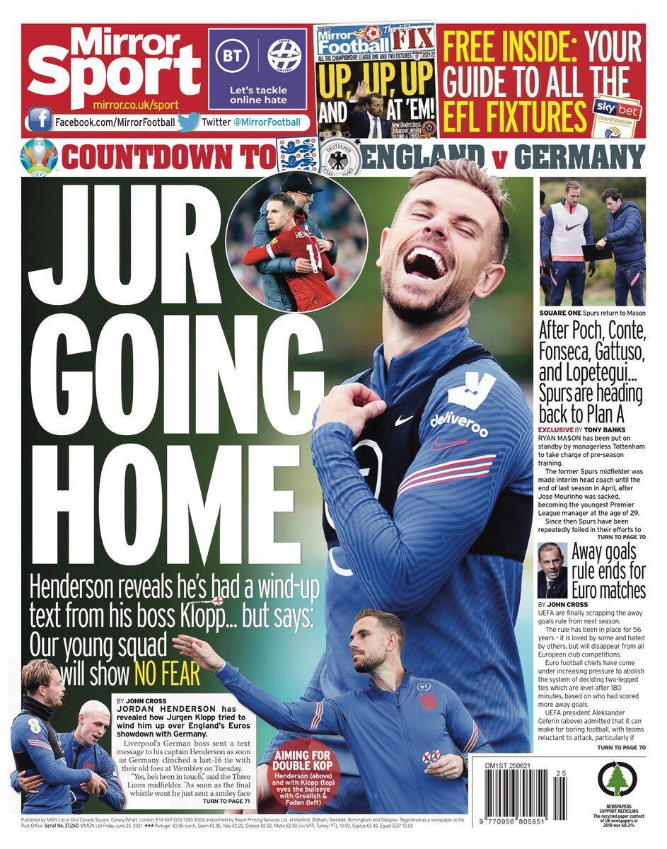 روزنامه میرر  تو به خانه برمیگردی