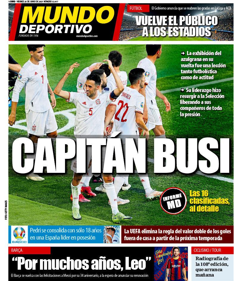 روزنامه موندو| کاپیتان بوسی