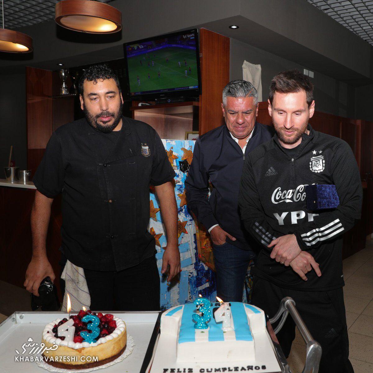 تولد 34 سالگی لیونل مسی در اردوی آرژانتین