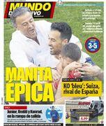 روزنامه موندو  دستان حماسی