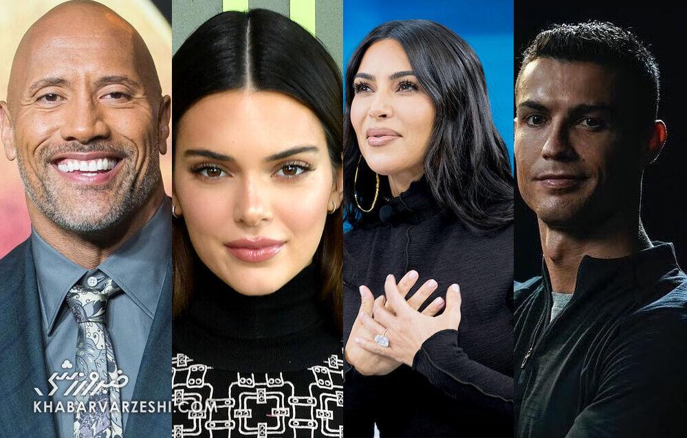 پردرآمدترین افراد جهان در اینستاگرام؛ رونالدو در صدر/ درآمدهای نجومی ستارهها از هر پست!