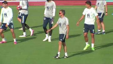 ویدیو  تمرین تیم ملی اسپانیا برای حضور در نیمه نهایی یورو ۲۰۲۰