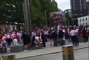 ویدیو  جو اطراف ورزشگاه ومبلی پیش از شروع دیدار انگلیس - دانمارک